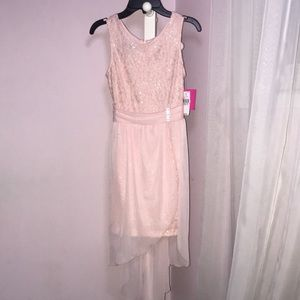 NWT Baby Pink High Low Dress!